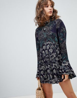 Image 1 of Free People the lady luck printed tunic dress