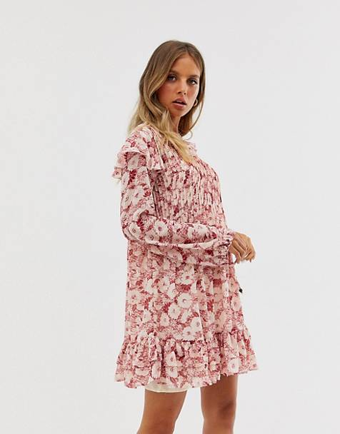 Free People these dreams pleated mini dress