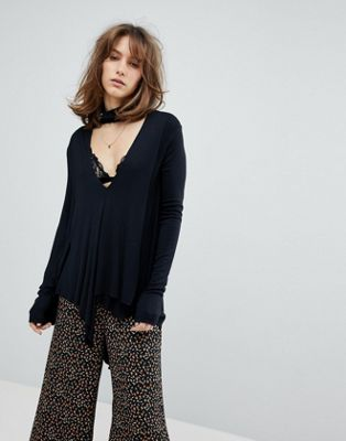 Free People Uptown Turtle Knit Top