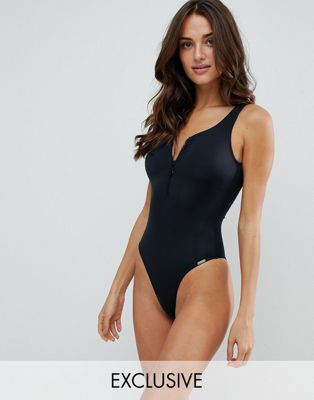 Free Society Zip Swimsuit