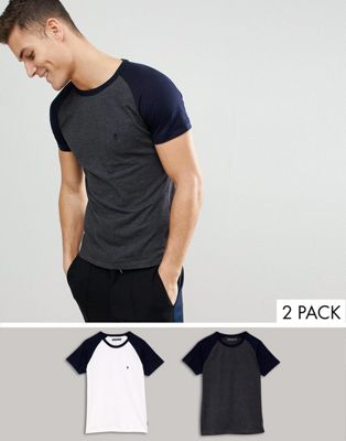 Image 1 of French Connection 2 Pack Raglan T-Shirts
