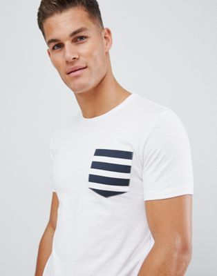 French Connection 5 Stripe Gradient T-Shirt with Pocket