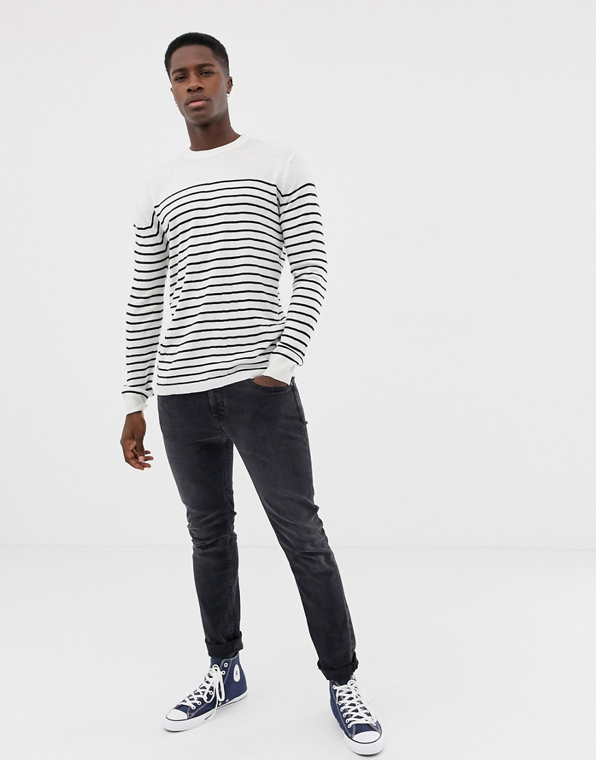 French Connection Breton Stripe Crew Neck Jumper by French Connection