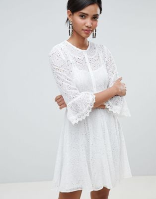 French Connection Broderie Mini Dress