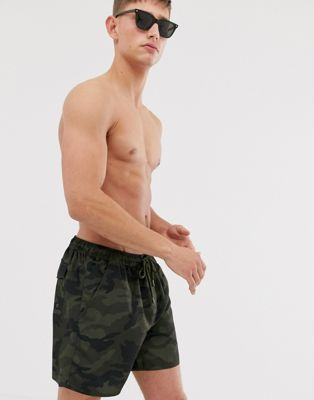 French Connection Camo Swim Shorts
