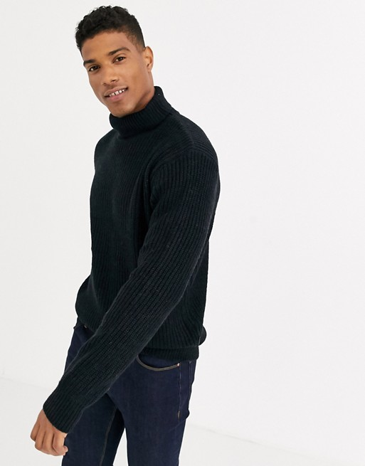 Image 1 of French Connection Chunky Roll Neck Sweater Plain