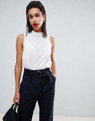 French Connection Classic High Neck Vest Top