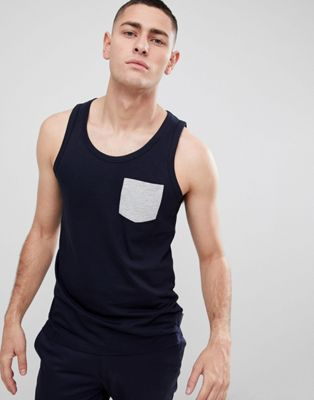 Image 1 of French Connection Contrast Pocket Tank