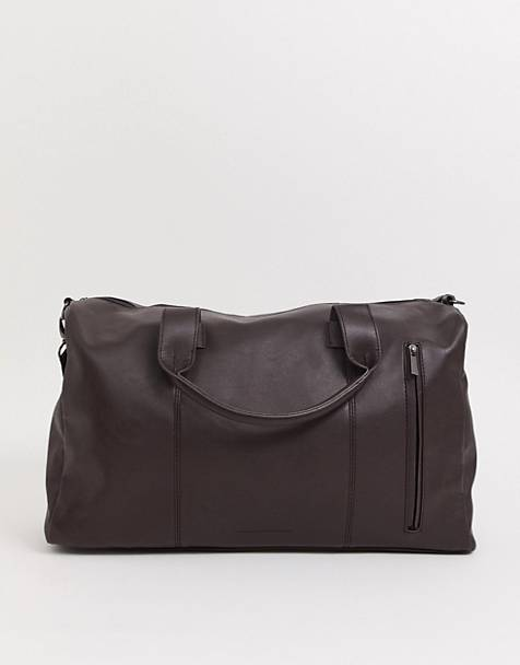 French Connection faux leather carryall