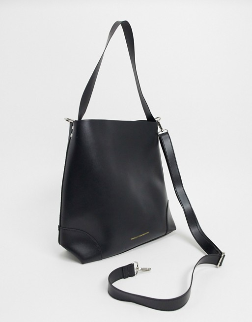 Faux Leather Clean Classic Tote Bag