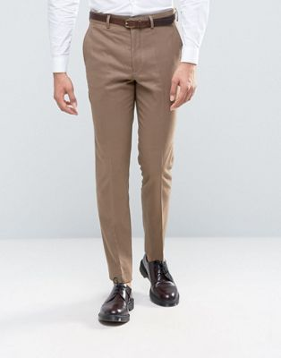 Image 1 of French Connection Flannel Slim Fit Suit Pants