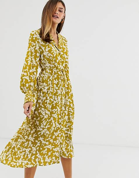 French Connection floral midi shirt dress