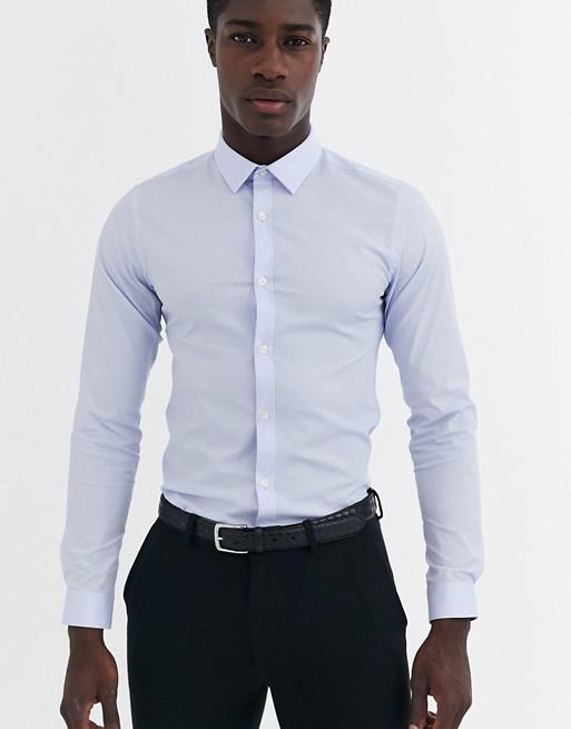 French Connection – Gładka koszula o obcisłym kroju ze stretchem