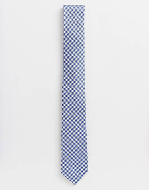 French Connection gingham check tie