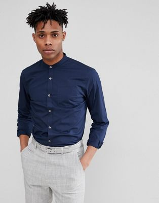 French Connection Grandad Long Sleeve Shirt