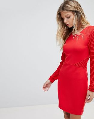 French Connection Jersey Panel Bodycon Dress