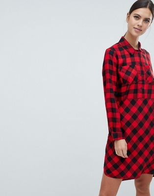 French Connection Margot Buffalo Check Shirt Dress