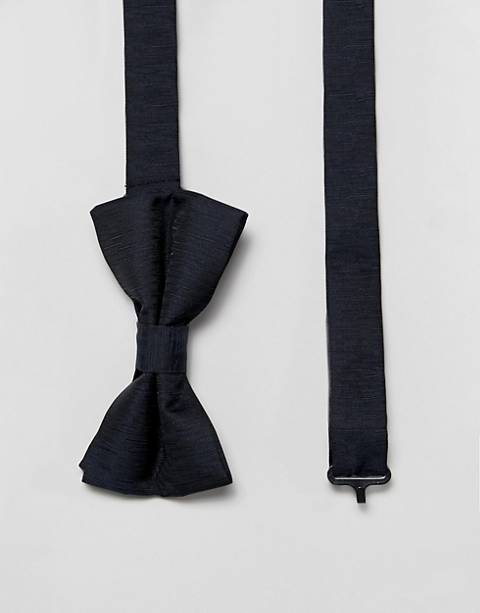 French Connection plain bow tie