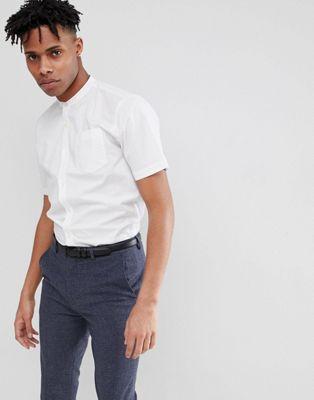 French Connection Plain Henley Short Sleeve Shirt