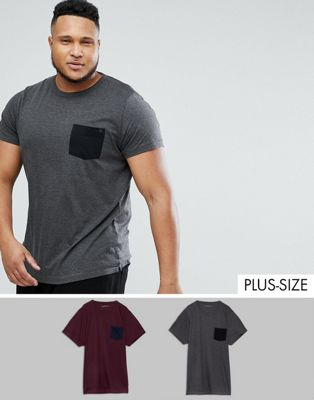Image 1 of French Connection PLUS 2 Pack Pocket T-Shirt