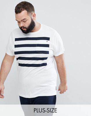 French Connection PLUS 5 Stripe Pocket T-Shirt