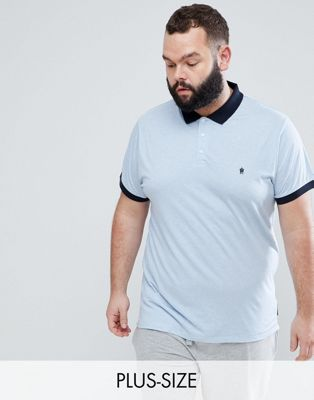 Image 1 of French Connection PLUS Contrast Collar Polo Shirt