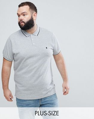 French Connection PLUS Tipped Pique Polo Shirt
