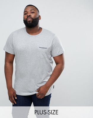 Image 1 of French Connection PLUS Tipped Pocket T-Shirt