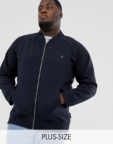 French Connection Plus zip through bomber jacket