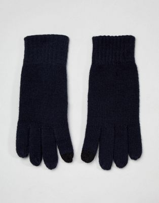 French Connection Rib Knit Touch Screen Gloves