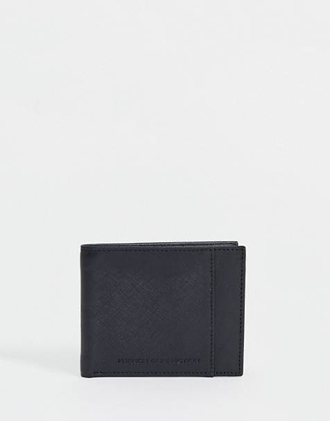 French Connection saffiano leather wallet