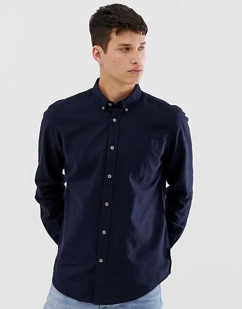 French Connection – Schmales, langärmliges Hemd aus Leinen