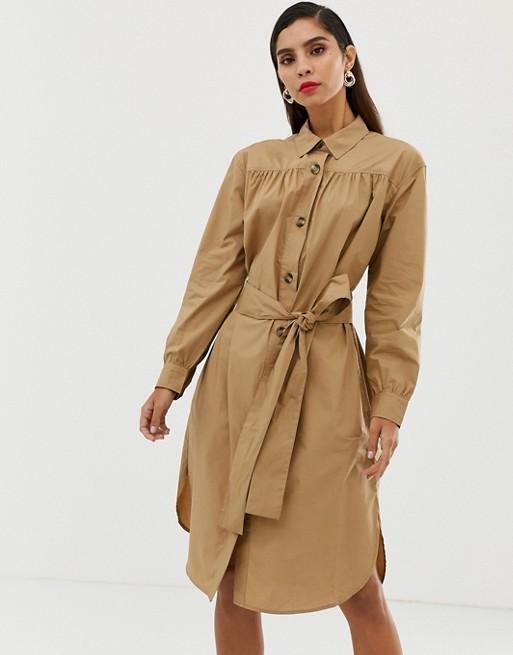 Bild 1 av French Connection – Skjortklänning med skärp