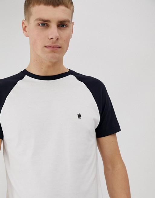 Bild 1 av French Connection – T-shirt med kontrastärm