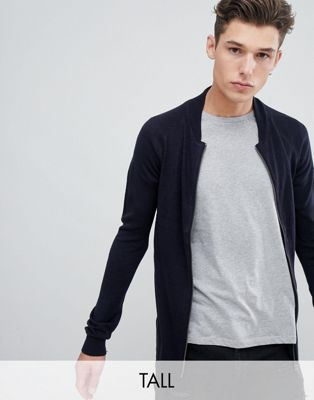 French Connection TALL Knitted Bomber Jacket