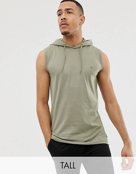 French Connection Tall sleeveless hoodie