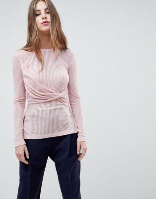 French Connection - Top en jersey avec détail torsadé