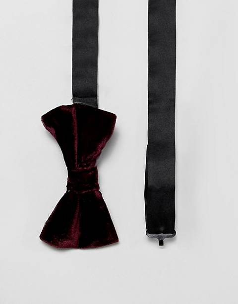 French Connection velvet bow tie