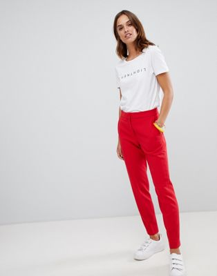 French Connection Whisper Ruth tapered tailored trousers