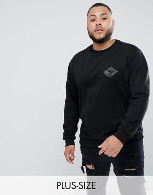 Bild 1 von Friend or Faux Plus – Sanko– Bedruckter Sweater in Schwarz
