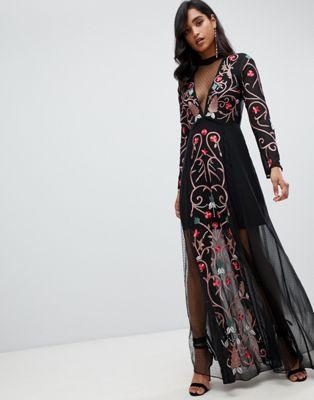Frock And Frill - Svart multi klänning med brodering
