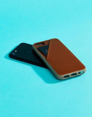 Funda para iPhone 7 con tarjetero en tostado Premium de Native Union