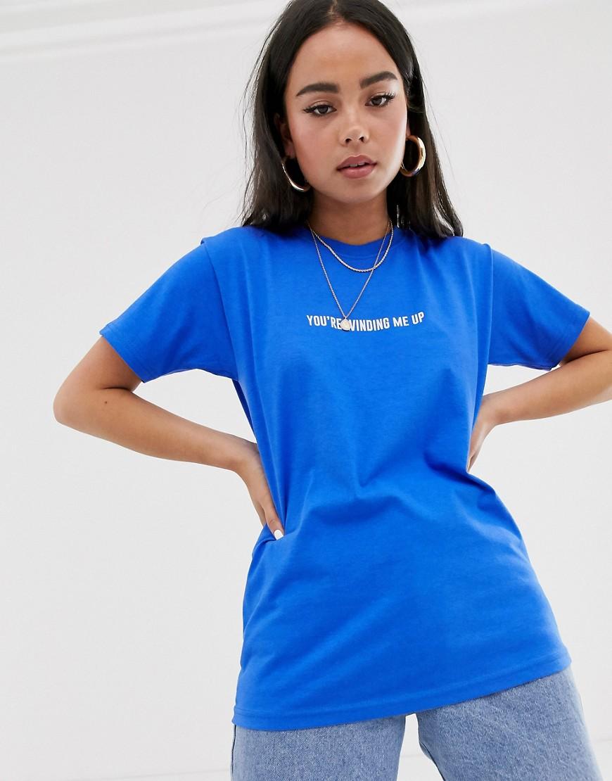 Футболка с принтом Adolescent Clothing-Синий