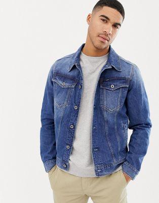 Image 1 of G-Star 3301 slim fit denim jacket in mid wash