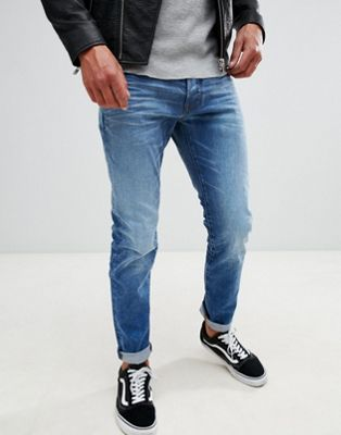 G-Star 3301 slim jeans light aged
