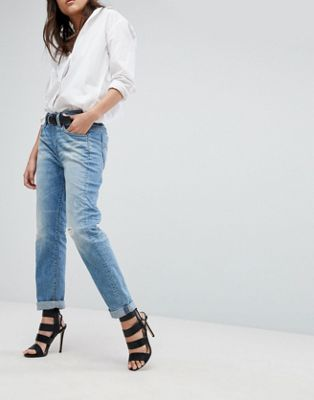 G-Star Midge Saddle Boyfriend Jeans with Roll Hem