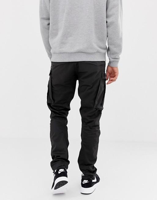 8f617ac4c1b G-Star Rovic zip cargo pants 3D tapered in black | ASOS