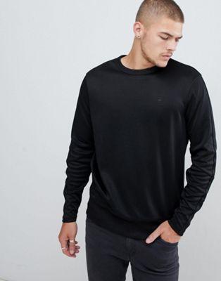 Image 1 of G-Star small logo sweatshirt in black