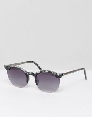 Gafas de sol con montura redonda y lentes de espejo de 7X