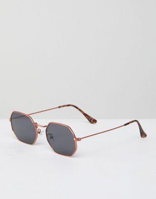 Gafas de sol hexagonales en dorado de Jeepers Peepers